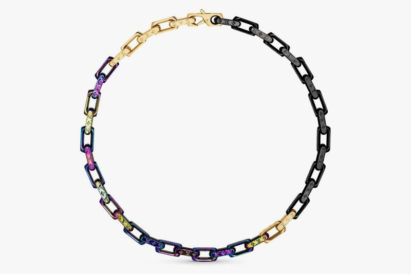 Louis Vuitton Virgil Abloh Spring Summer 2019 Monogram Necklace Gold Silver