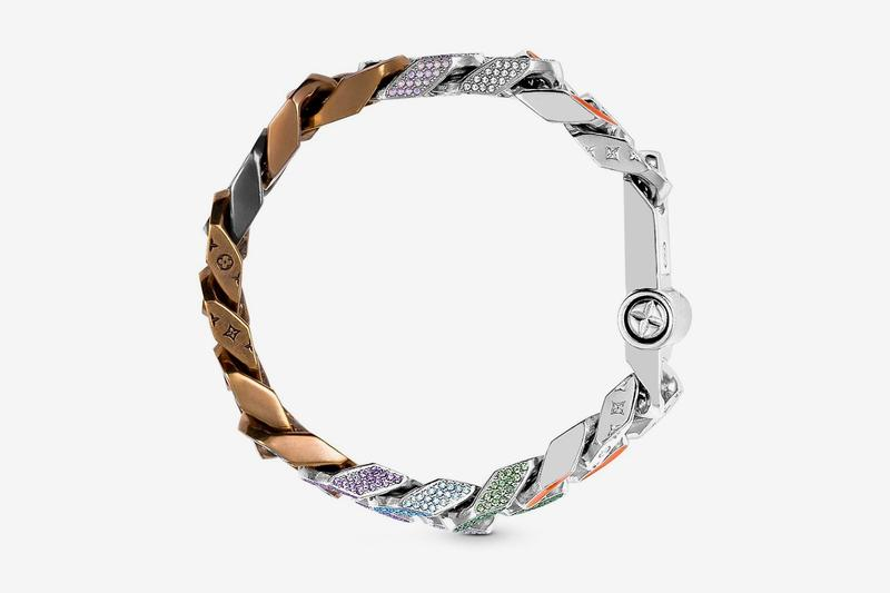 Louis Vuitton Virgil Abloh Spring Summer 2019 Monogram Bracelet Brown Silver