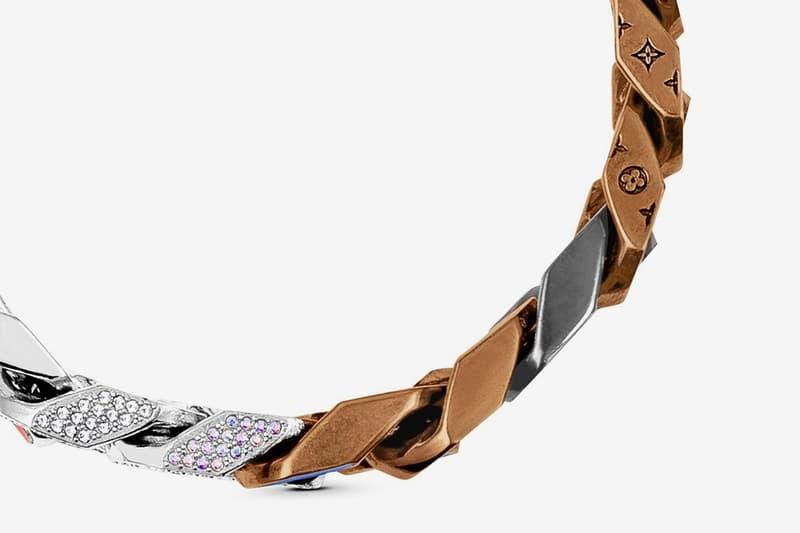 Louis Vuitton Virgil Abloh Spring Summer 2019 Monogram Bracelet Silver Brown