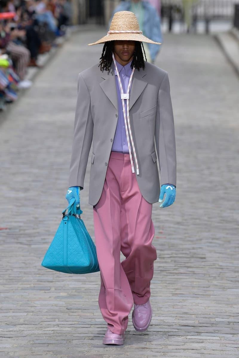Louis Vuitton Virgil Abloh Spring Summer 2020 Paris Fashion Week Men's Show Collection Jacket Grey Pants Pink