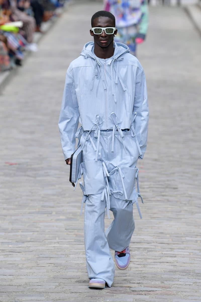Louis Vuitton Virgil Abloh Spring Summer 2020 Paris Fashion Week Men's Show Collection Hoodie Pants Blue