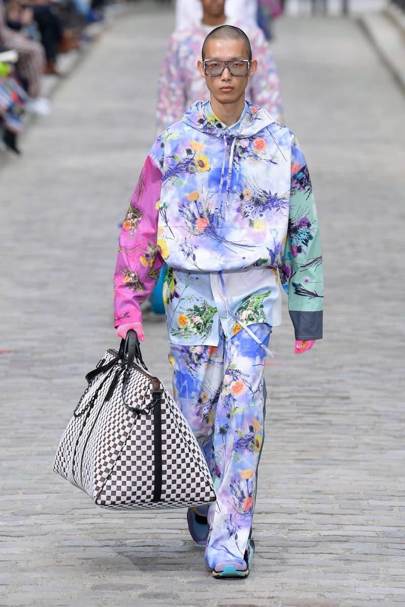Louis Vuitton Virgil Abloh Spring Summer 2020 Paris Fashion Week Men's Show Collection Hoodie Pants Blue Purple Pink