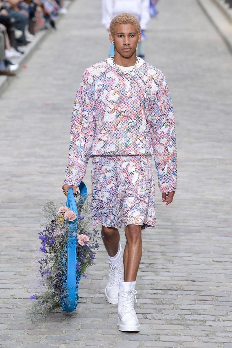 Louis Vuitton Virgil Abloh Spring Summer 2020 Paris Fashion Week Men's Show Collection Hoodie Shorts Purple Pink