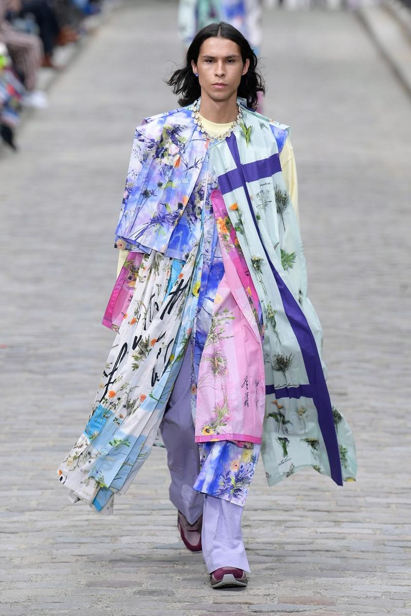 Louis Vuitton Virgil Abloh Spring Summer 2020 Paris Fashion Week Men's Show Collection Coat Blue Pink