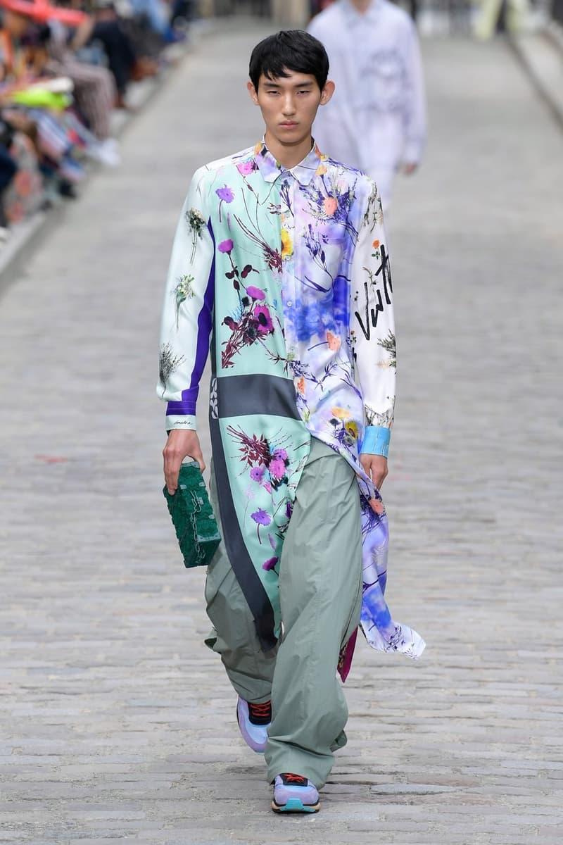 Louis Vuitton Virgil Abloh Spring Summer 2020 Paris Fashion Week Men's Show Collection Jacket Pants Purple Blue