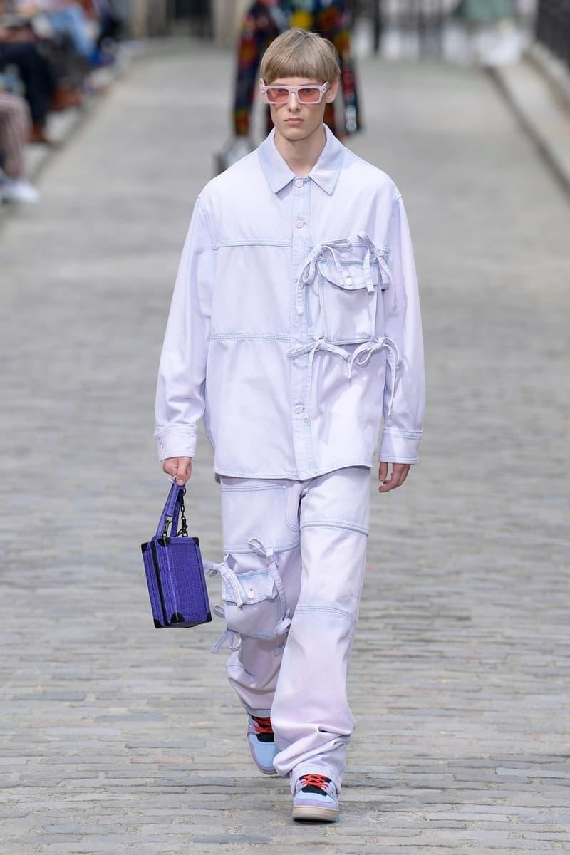 Louis Vuitton Virgil Abloh Spring Summer 2020 Paris Fashion Week Men's Show Collection Raincoat Pants White
