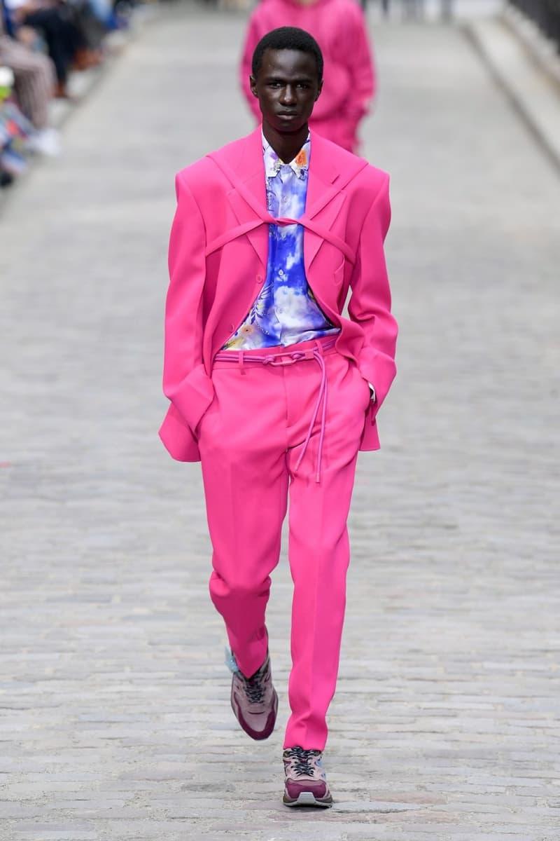 Louis Vuitton Virgil Abloh Spring Summer 2020 Paris Fashion Week Men's Show Collection Raincoat Blazer Pants Pink