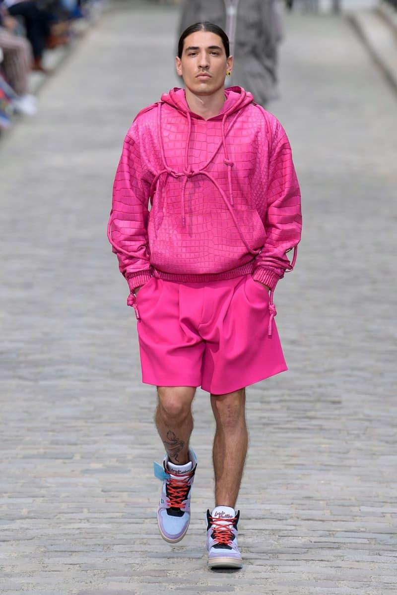 Louis Vuitton Virgil Abloh Spring Summer 2020 Paris Fashion Week Men's Show Collection Hoodie Shorts Pink