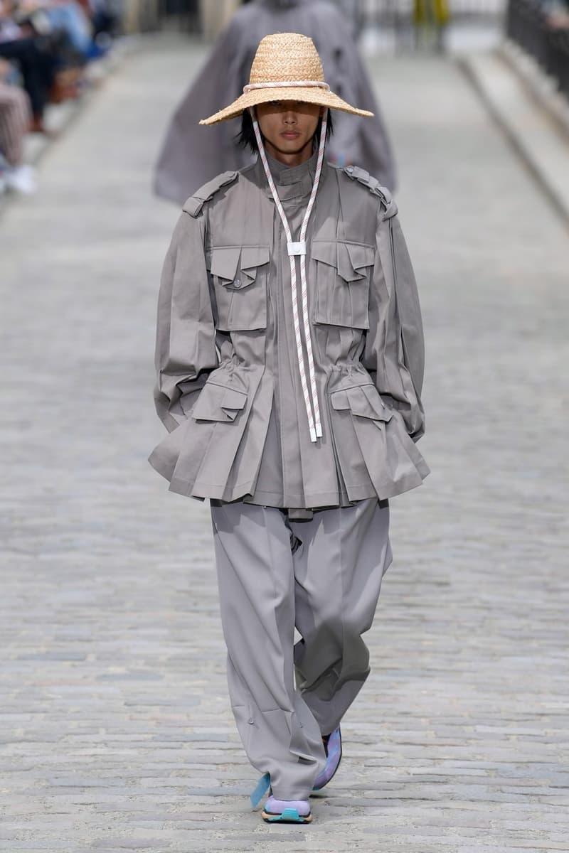 Louis Vuitton Virgil Abloh Spring Summer 2020 Paris Fashion Week Men's Show Collection Raincoat Pants Grey
