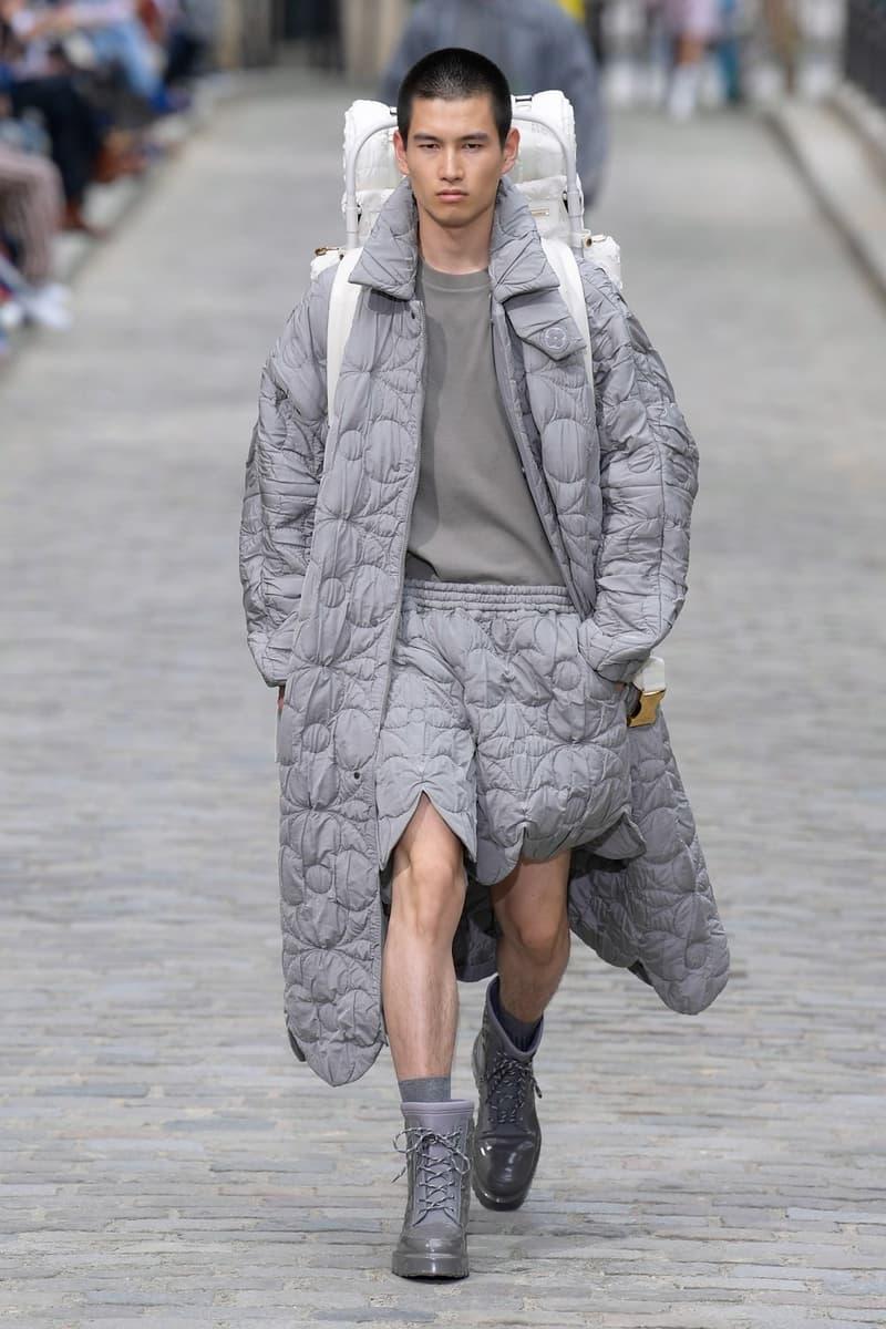 Louis Vuitton Virgil Abloh Spring Summer 2020 Paris Fashion Week Men's Show Collection Jacket Shorts Grey