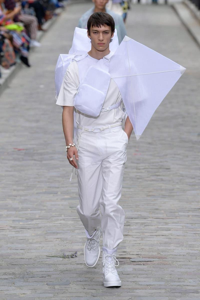 Louis Vuitton Virgil Abloh Spring Summer 2020 Paris Fashion Week Men's Show Collection Shirt Pants White