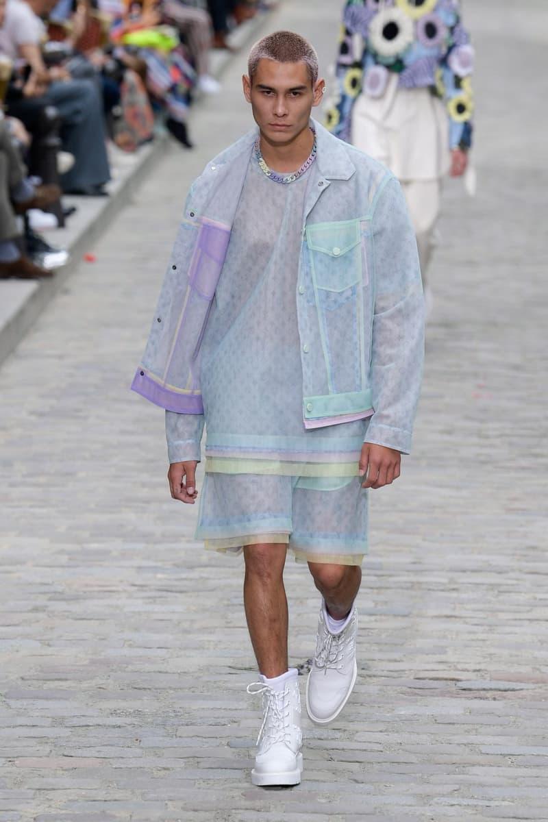 Louis Vuitton Virgil Abloh Spring Summer 2020 Paris Fashion Week Men's Show Collection Monogram Raincoat Blue Purple