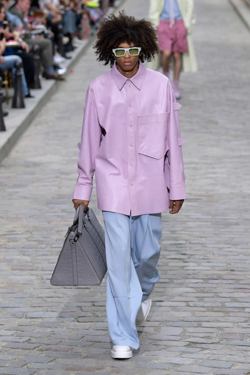 Louis Vuitton Virgil Abloh Spring Summer 2020 Paris Fashion Week Men's Show Collection Jacket Purple Pants Blue