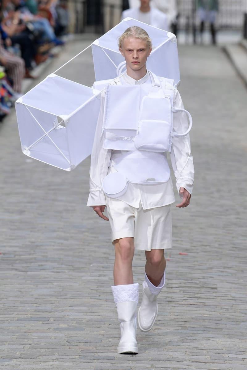 Louis Vuitton Virgil Abloh Spring Summer 2020 Paris Fashion Week Men's Show Collection Jacket Shorts White
