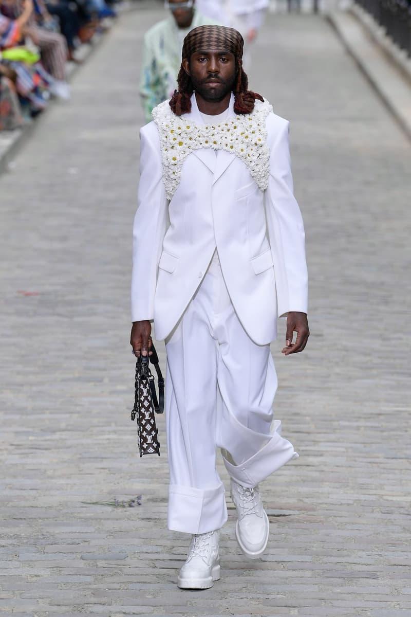 Louis Vuitton Virgil Abloh Spring Summer 2020 Paris Fashion Week Men's Show Collection Dev Hynes Blazer Pants White