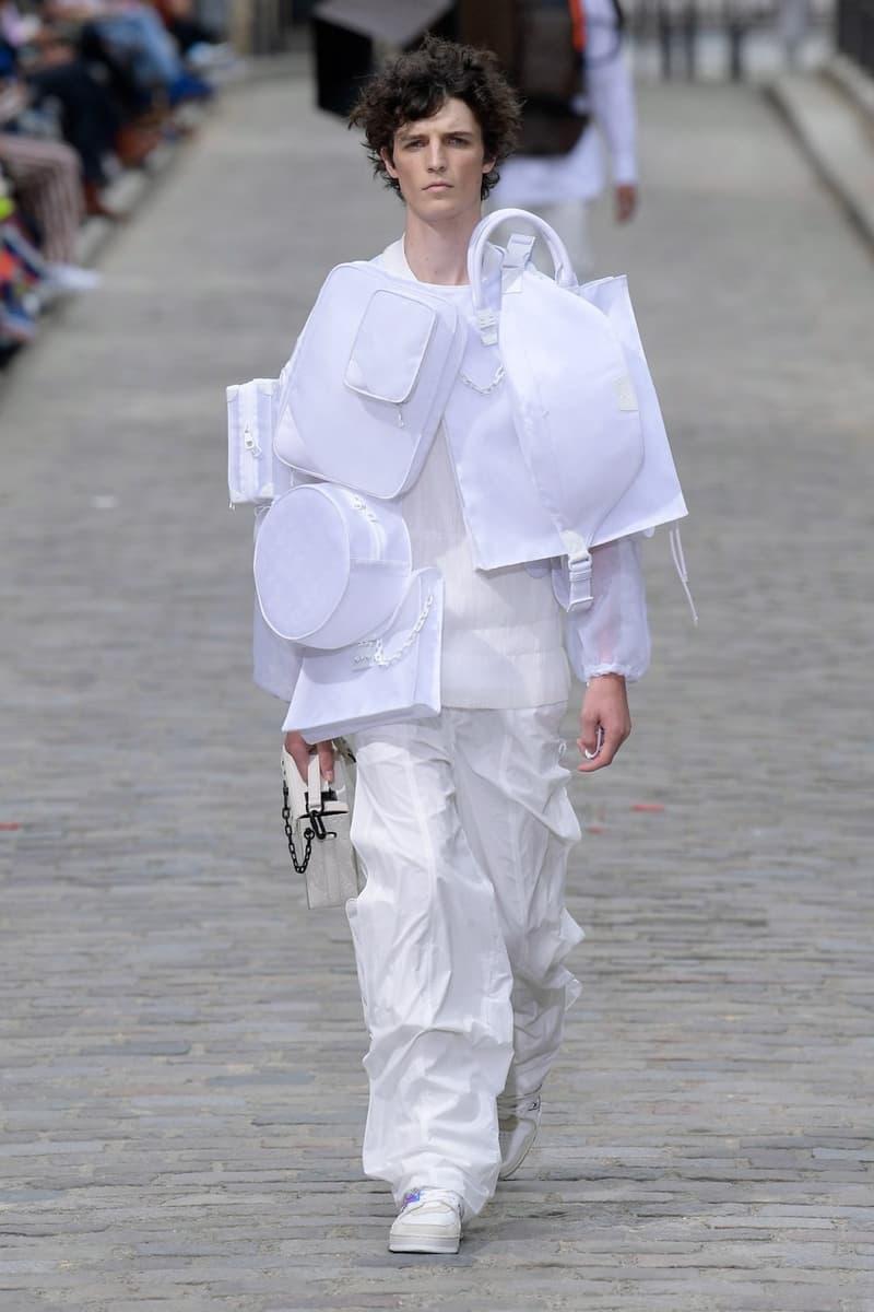 Louis Vuitton Virgil Abloh Spring Summer 2020 Paris Fashion Week Men's Show Collection Jacket Pants White