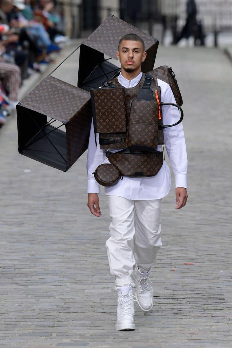 Louis Vuitton Virgil Abloh Spring Summer 2020 Paris Fashion Week Men's Show Collection Shirt Pants White Monogram Vest Brown Black