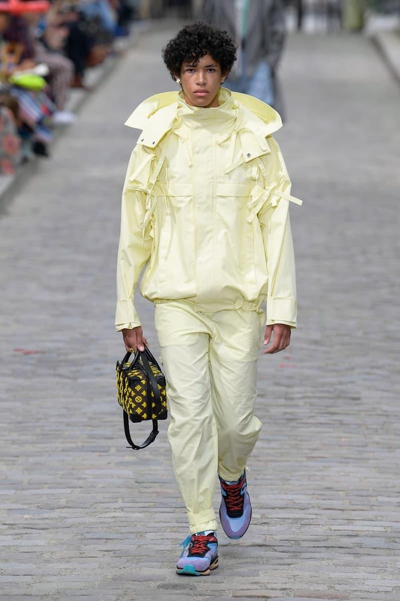 Louis Vuitton Virgil Abloh Spring Summer 2020 Paris Fashion Week Men's Show Collection Jacket Pants Yellow