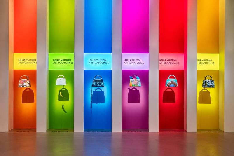 Louis Vuitton X Exhibition Los Angeles Handbags Orange Red Yellow