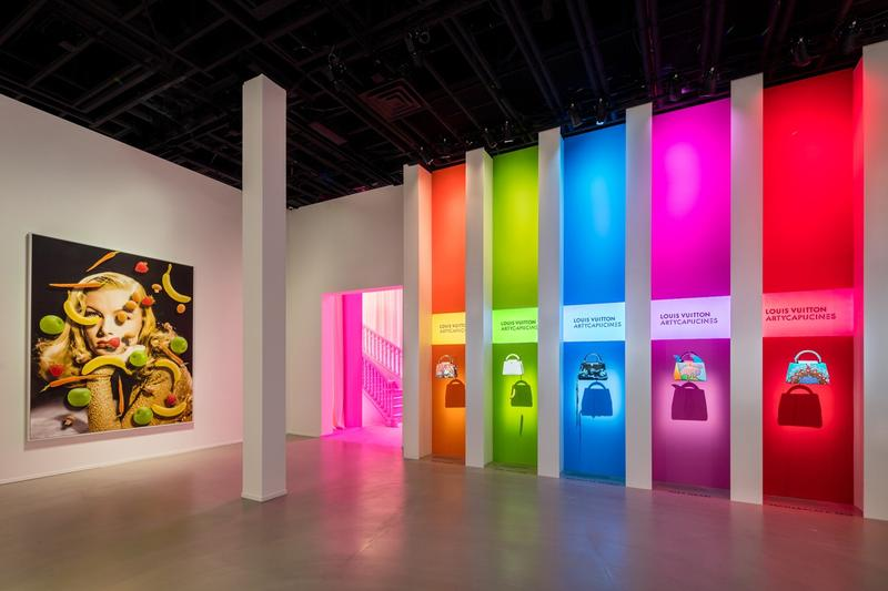 Louis Vuitton X Exhibition Los Angeles Handbags Yellow Red Purple