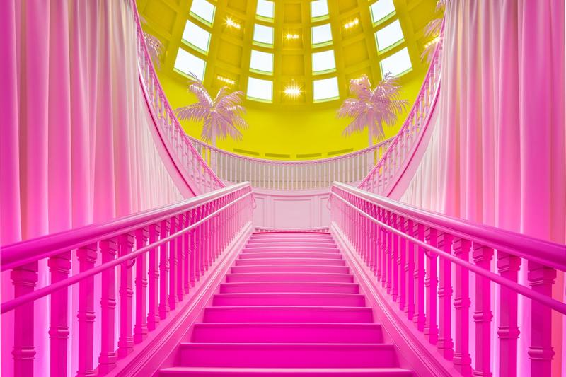 Louis Vuitton X Exhibition Los Angeles Room Pink Yellow