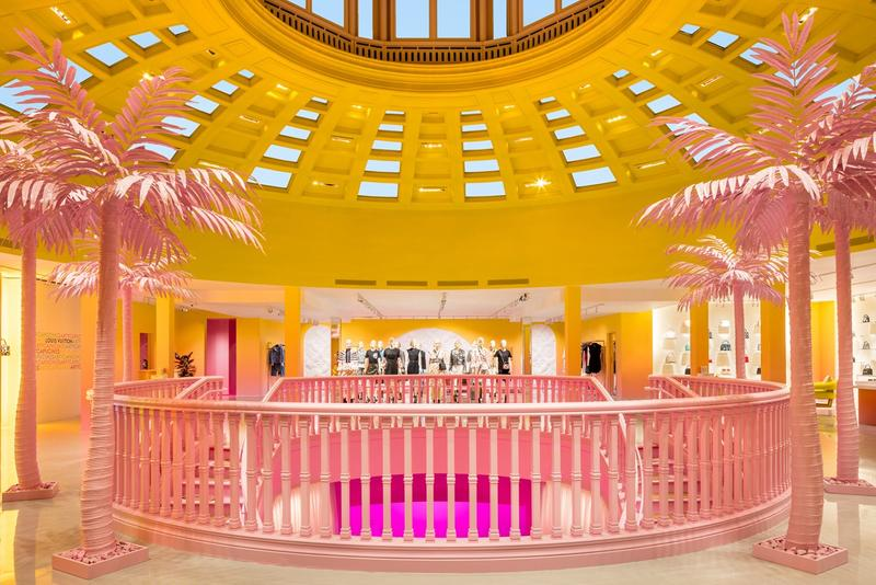 Louis Vuitton X Exhibition Los Angeles Room Yellow Pink