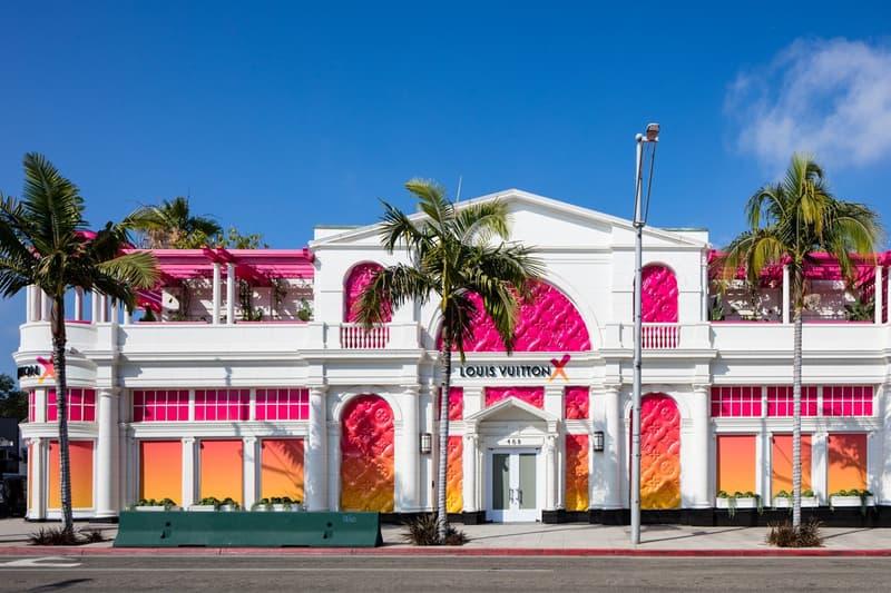 Louis Vuitton X Exhibition Los Angeles Front White Pink Orange