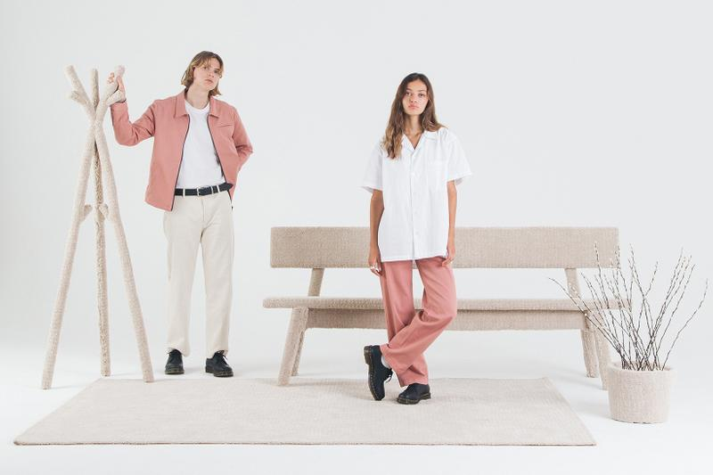 Magnus Ronning Unisex Brand Summer 2019 Collection Pants Jacket T-Shirts Dusty Pink Paisley Print