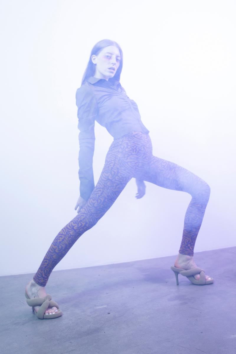 Maisie Wilen Pre Spring 2020 Lookbook Top Leggings Grey