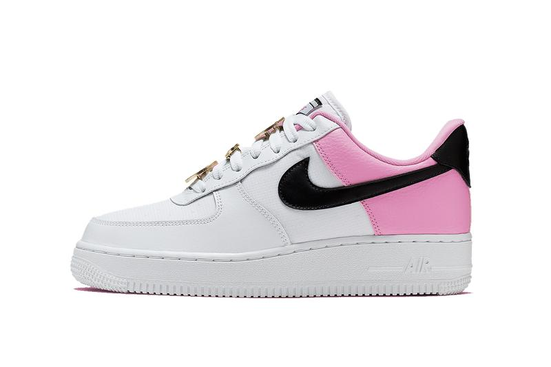 """Nike Air Force 1 Sneaker Trainer """"China Rose"""" Lacelocks Pink White Black Swoosh Shoe Footwear Releases Where To Buy Air Force 1 Sneaker"""