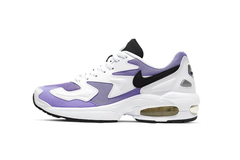 nike air max 2 light purple white sneakers trainers