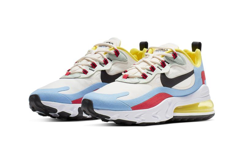 Nike Air Max 270 React White Yellow Magenta Blue