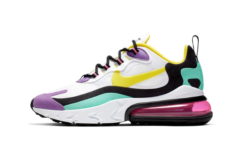 Nike Air Max 270 React White Purple