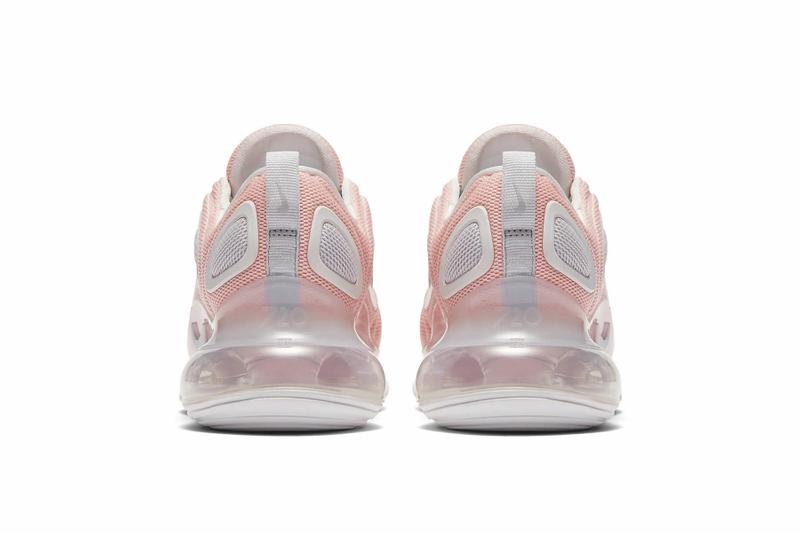 "Nike Air Max 720 ""Bleached Coral"" Pastel Pink Sneaker Trainer Shoe Summer Footwear Release Chunky Platform Futuristic"