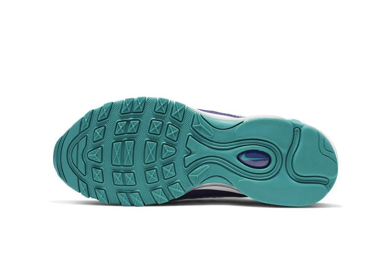 """Nike Aix Max 98 """"Court Purple/Spirit Teal"""" Shoe White Turquoise Blue Summer Sneaker Trainer Release"""
