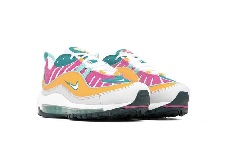 Nike Air Max 98 Spirit Teal Vast Grey Tropical Twist Sneaker Release Summer Shoe Colorful Fun