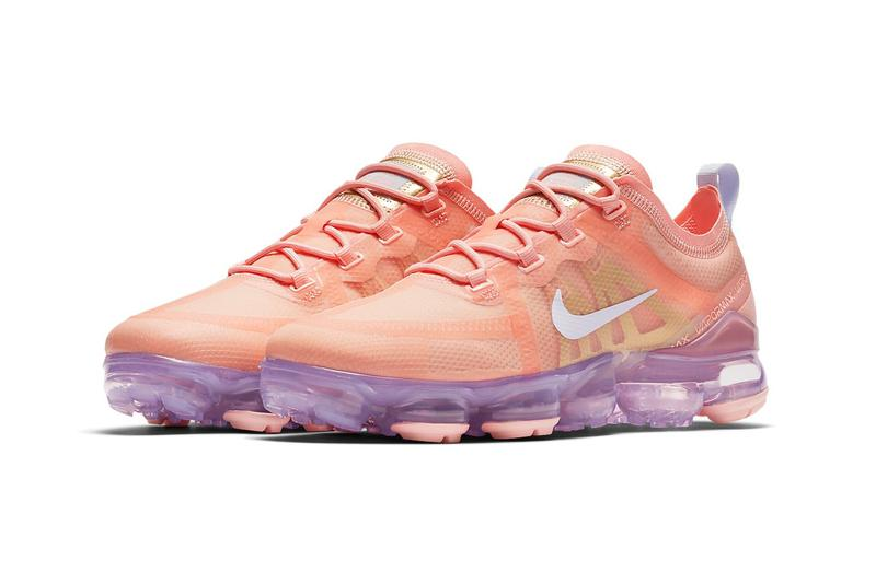 Nike Air VaporMax 2019 Bleached Coral Lilac Amethyst Tint Sneakers Trainers