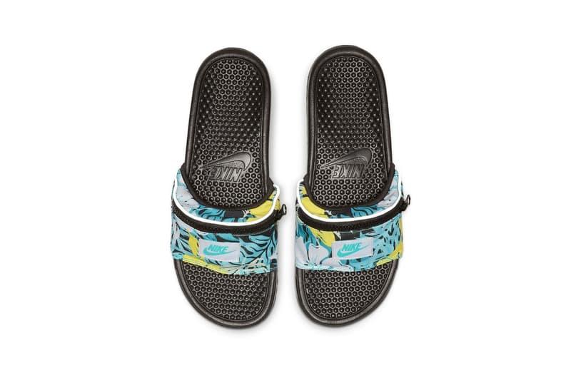 Nike Benassi JDI Fanny Pack Slide Hyper Jade Spirit Teal