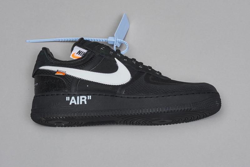 virgil abloh nike off-white off white figures of speech museum of contemporary art chicago mca collab prototype samples air force 1 design an array of air jordan zoom terra kiger air max vapormax vapor street flyknit waffle racer deconstructed