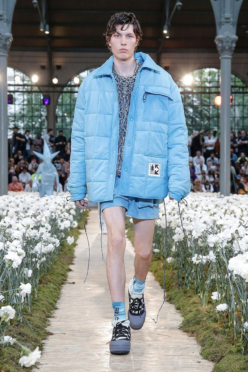 Off-White Virgil Abloh Spring Summer 2020 Paris Fashion Week Show Collection Backstage Jacket Shorts Blue