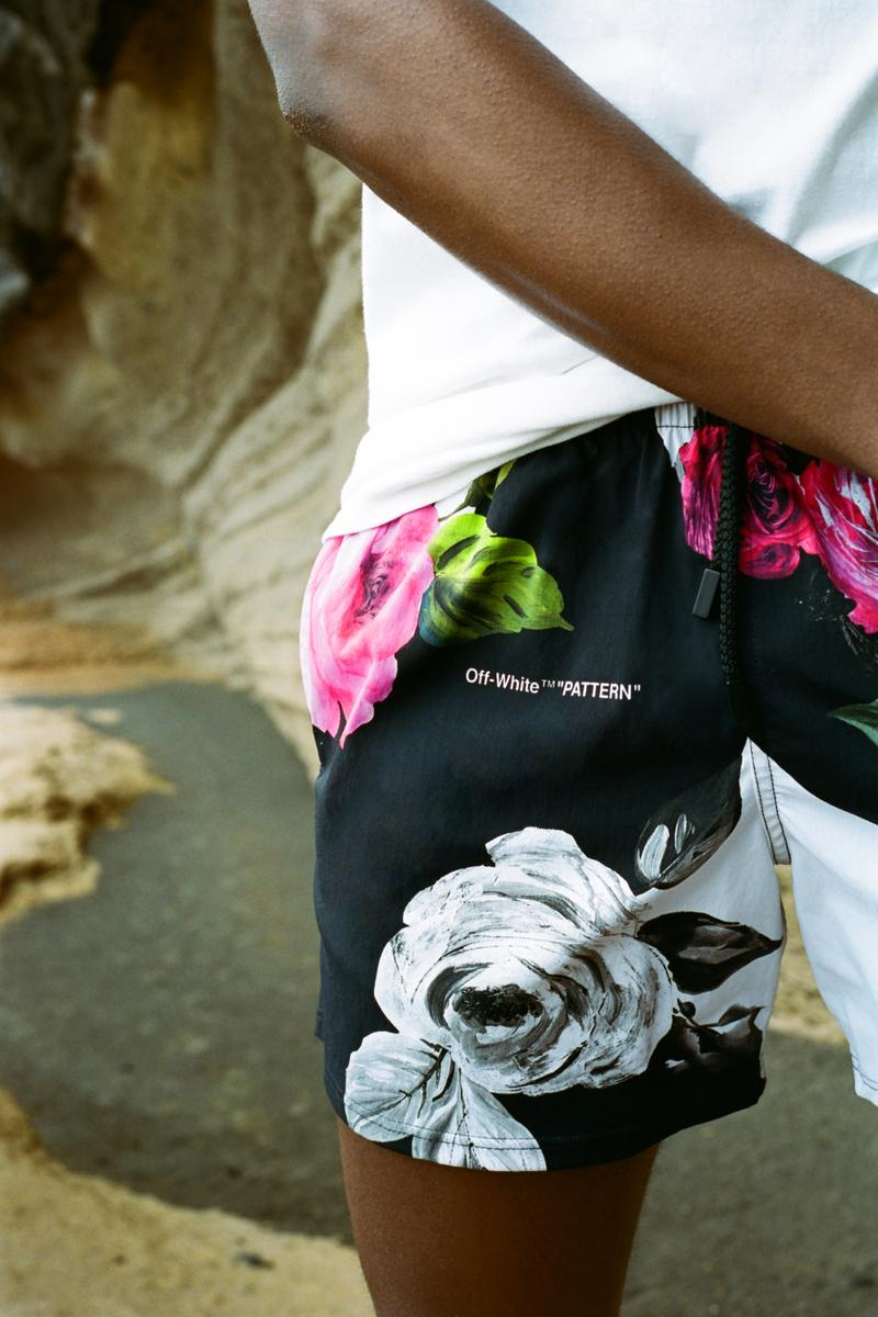 Off White Vilebrequin Swim Shorts Floral Black White