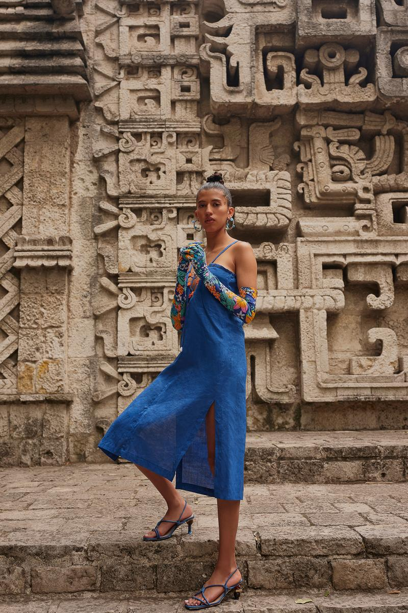 Opening Ceremony Year of Mexico Editorial Campaign Dress Blue