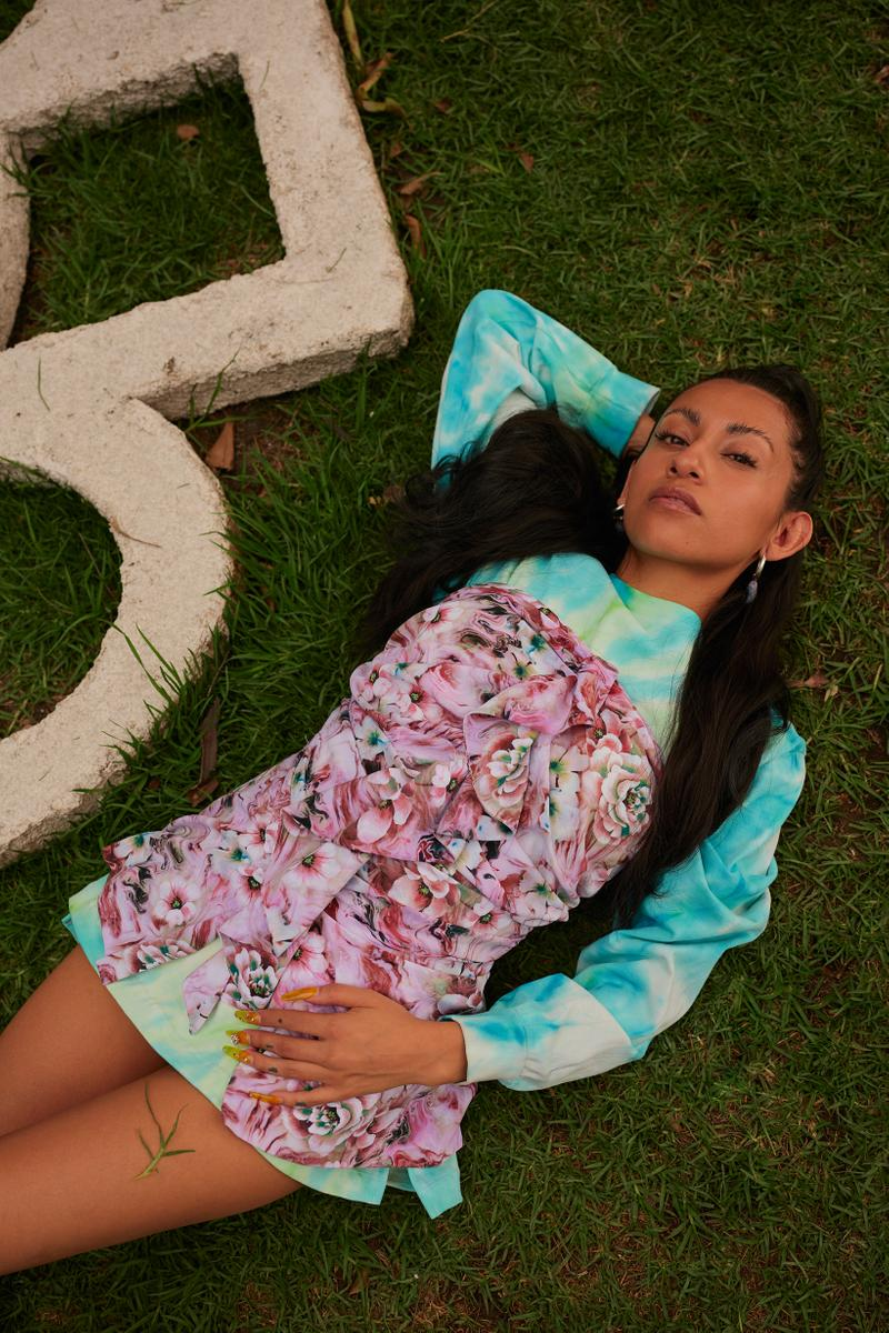 Opening Ceremony Year of Mexico Editorial Campaign Dress Blue Pink White