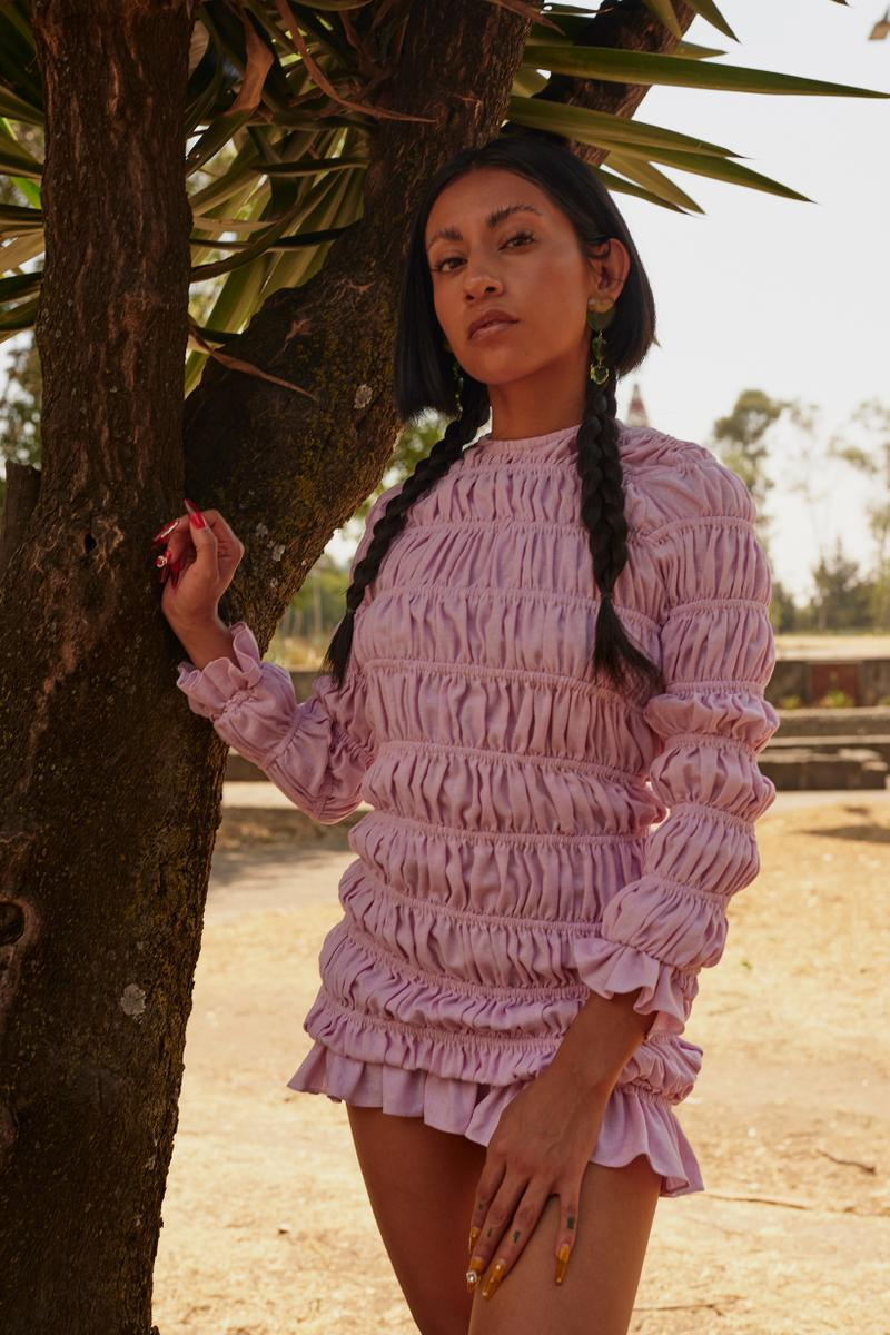 Opening Ceremony Year of Mexico Editorial Campaign Dress Pink