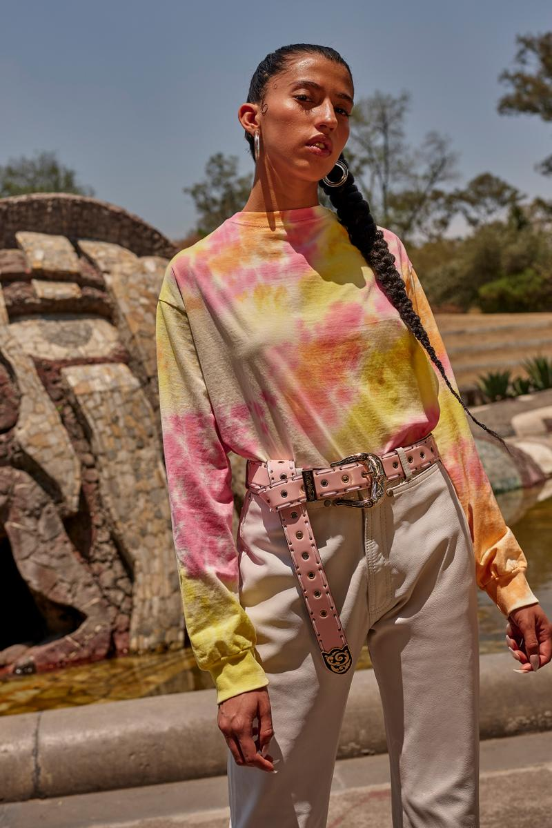 Opening Ceremony Year of Mexico Editorial Campaign Tie Dye Shirt Pink White