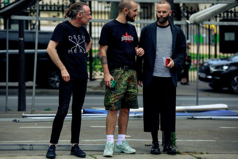 Paris Fashion Week Men's Spring Summer 2020 Street Style T Shirts Black Grey Shorts Camo Green Tan