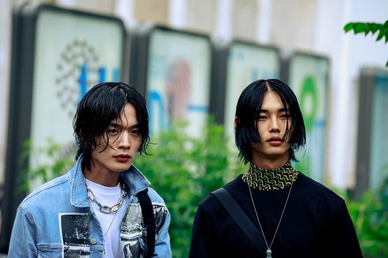 Paris Fashion Week Men's Spring Summer 2020 Street Style Jackets Blue Black