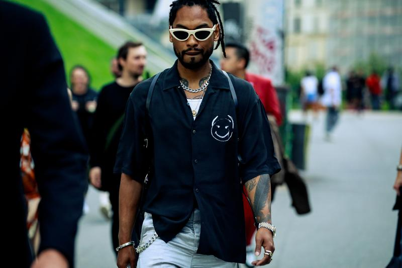 Paris Fashion Week Men's Spring Summer 2020 Street Style Miguel Shirt White