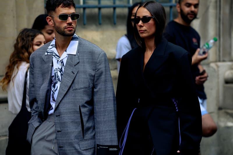 Paris Fashion Week Men's Spring Summer 2020 Street Style Blazer Pants Grey Jacket Black