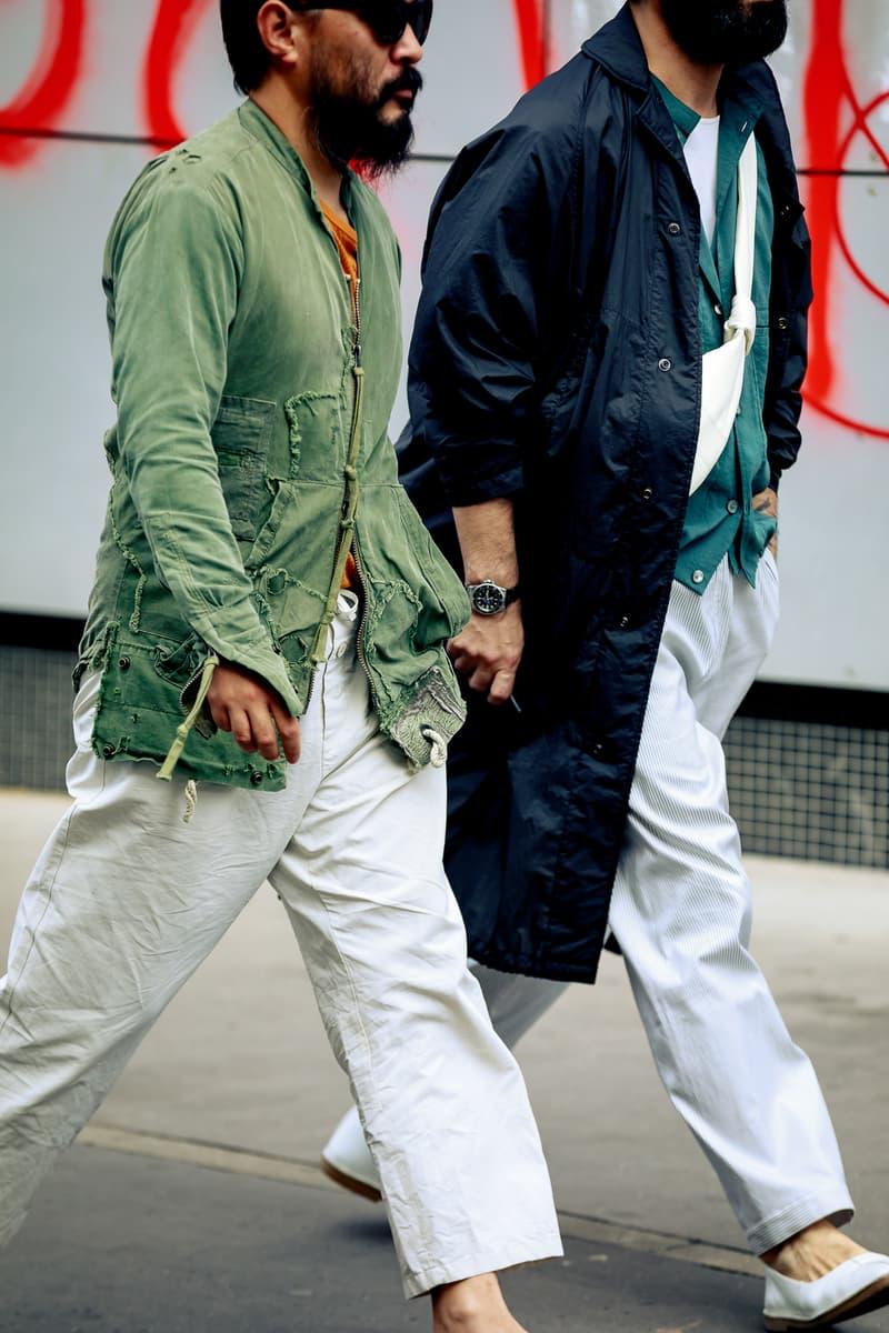 Paris Fashion Week Men's Spring Summer 2020 Street Style Jacket Black Shirt White